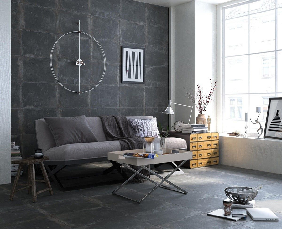 Anfora Anthracite Porcelain Wall and Floor Tiles | Tile Mountain