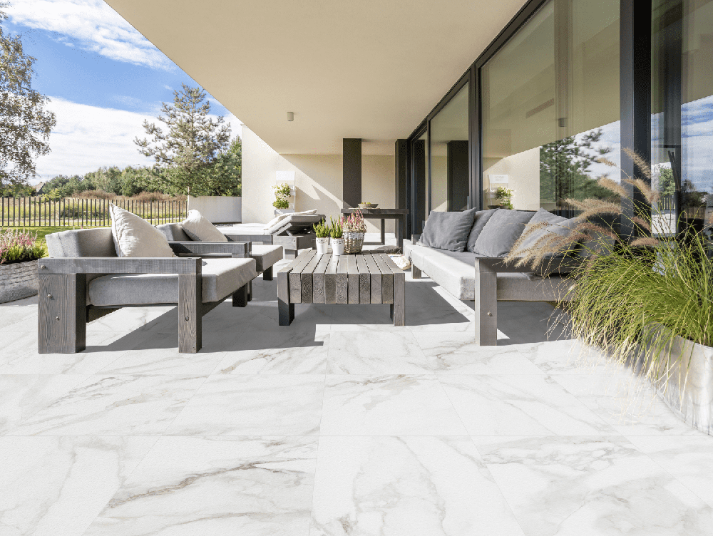 Marble Stone Calacatta Outdoor Slab Tile from Tile Mountain