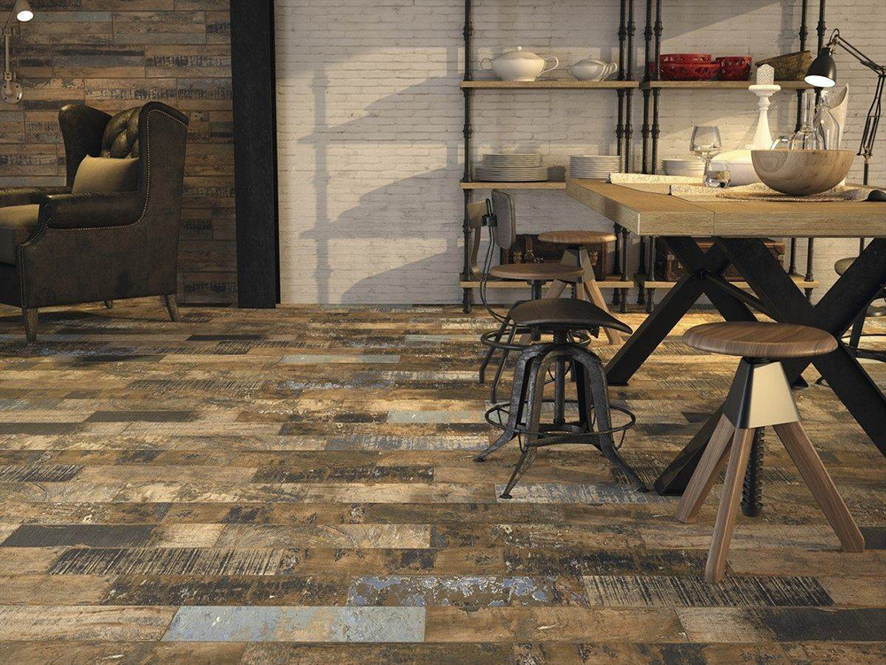 Rural Distressed Wood Effect Floor Tiles from Tile Mountain