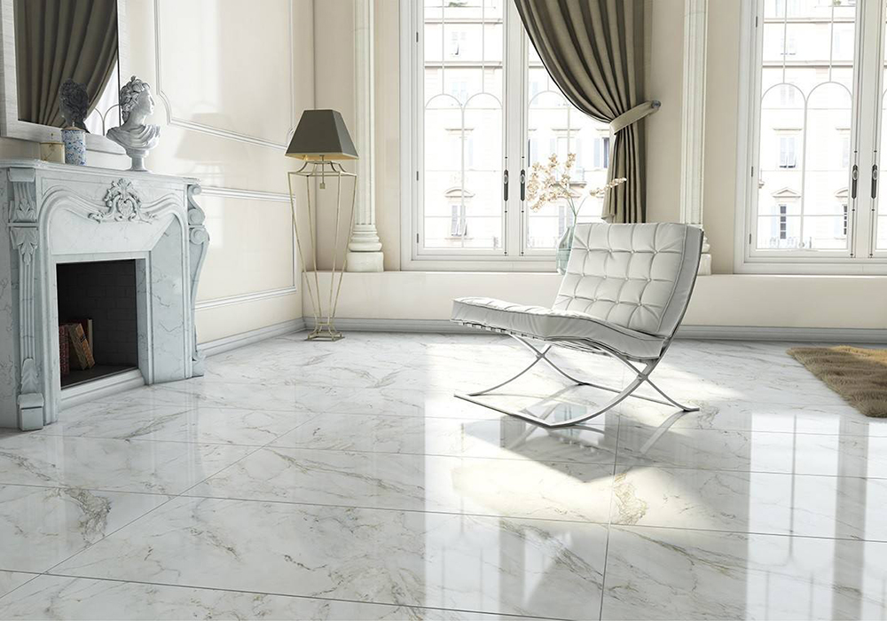 Anderson White Polished Floor Tile | Tile Mountain