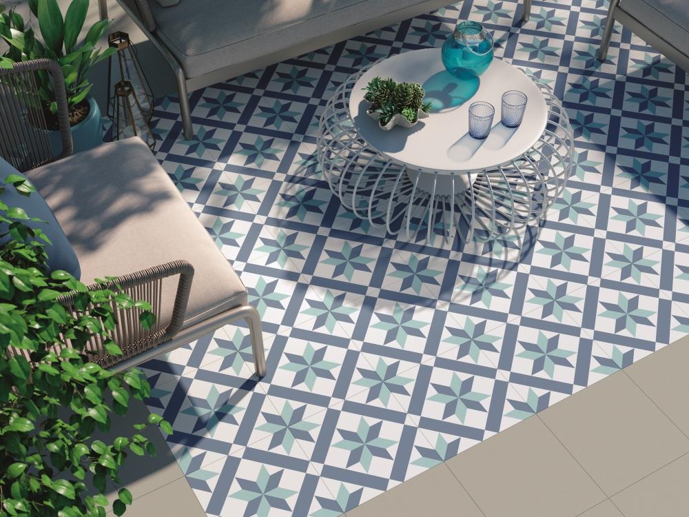 Hanoi Star Blue Floor Tile | Tile Mountain