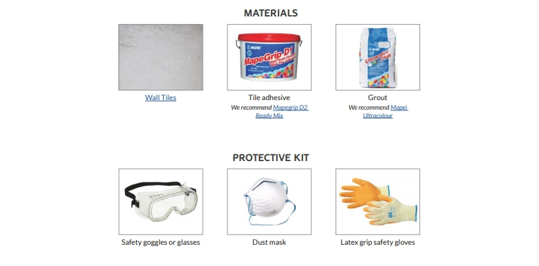 Protective Kit for Wall Tiling