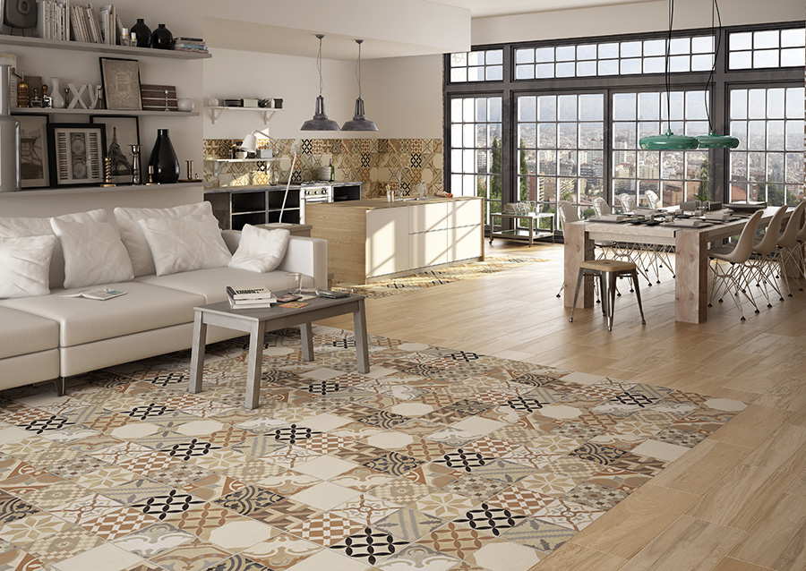Moments Beige Mix Floor Tiles from Tile Mountain