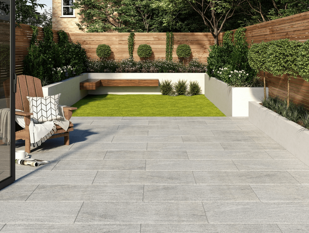 Granito Grey Outdoor Matt Porcelain Slab | Tile Mountain