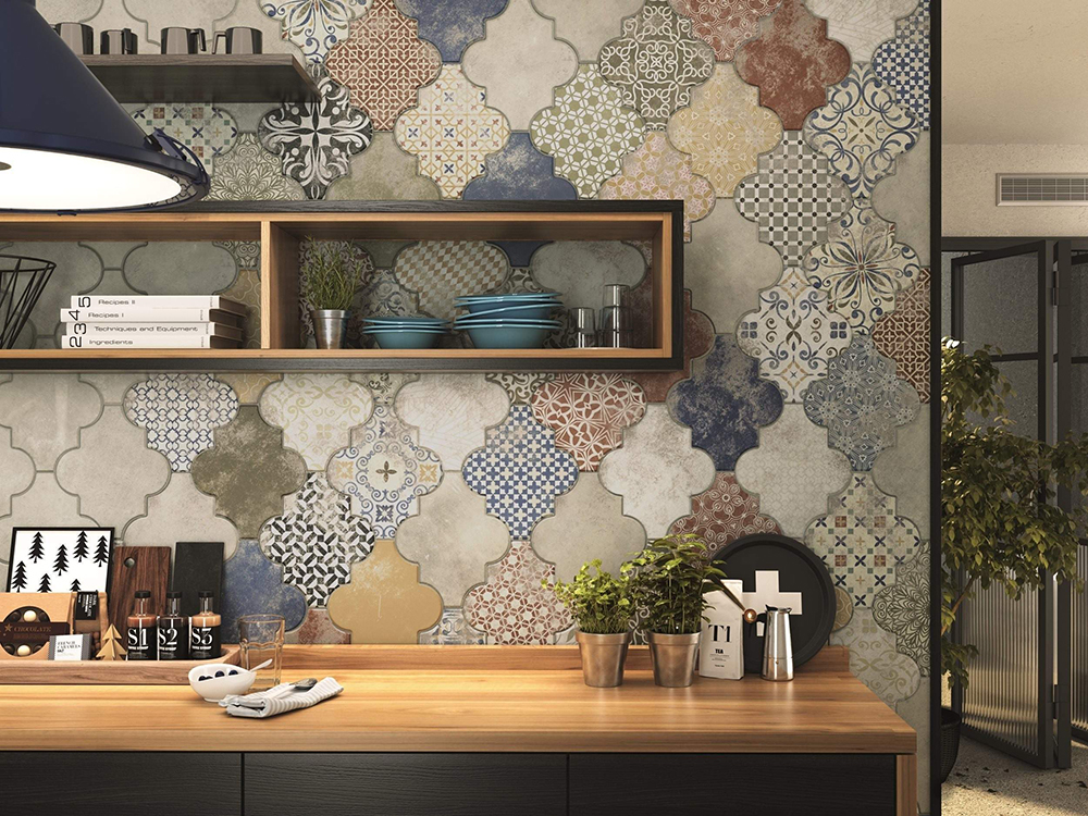 Riga Patchwork Wall and Floor Tiles by Tile Mountain