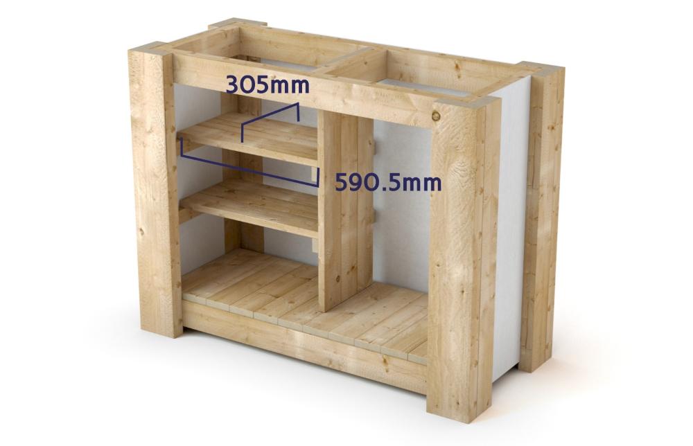 Outdoor Bar - Building The Shelves