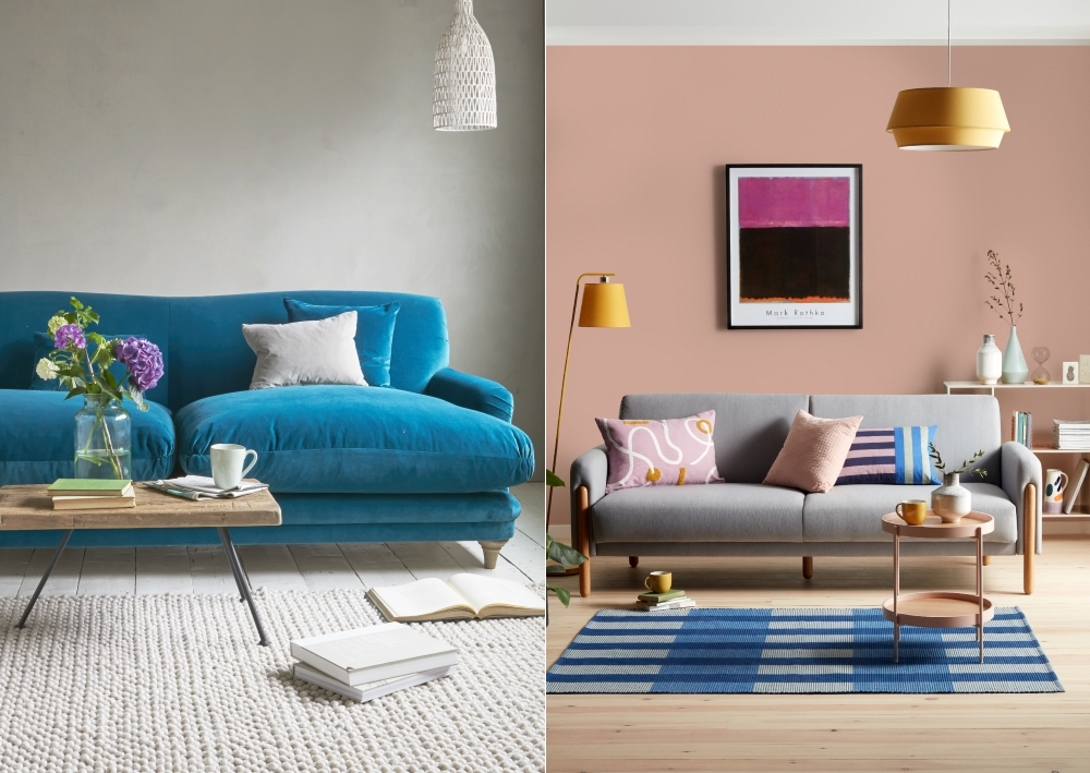 Pudding Sofa in Teal from Loaf | Show Wood Sofa Bed from House by John Lewis