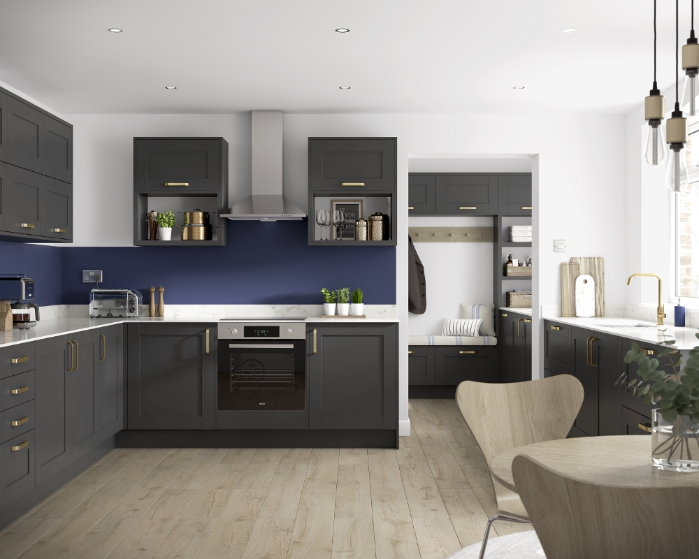 Oxford Slate-Grey Kitchen | Benchmarx Kitchens