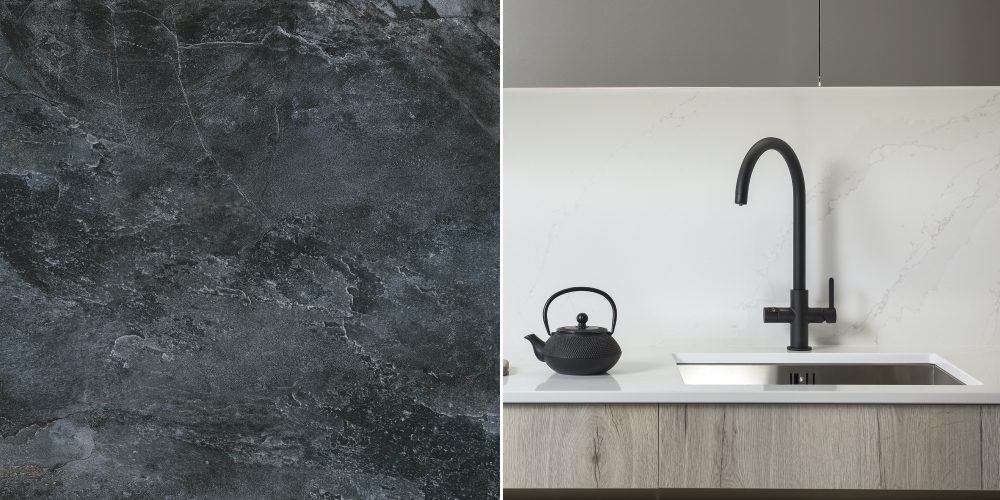 Nature Black Slate from Tile Mountain | Puria Aquifier by Abode