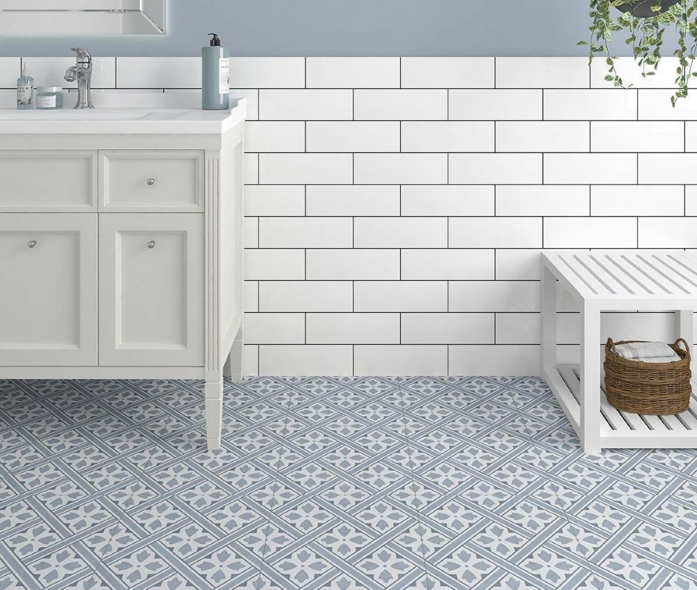 Mr Jones Blue Pattern Wall and Floor | Tile Mountain
