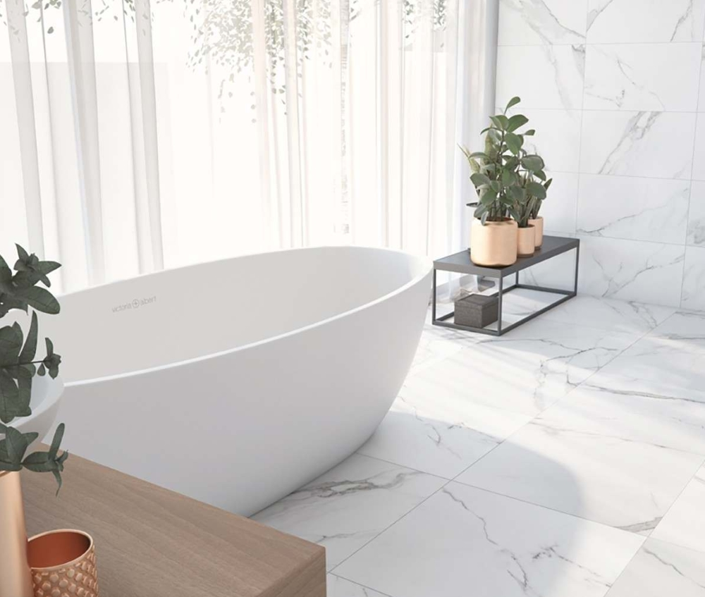 Place White Marble Effect   Tile Mountain