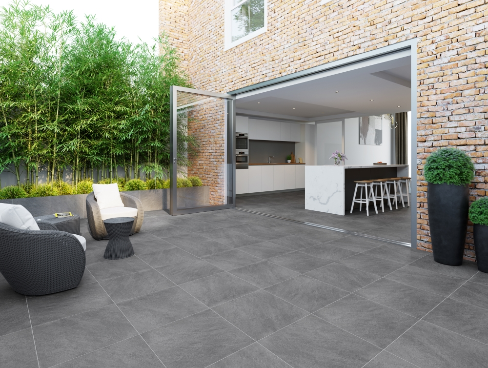 Dakota Dark Grey Riven Outdoor Slab | Tile Mountain