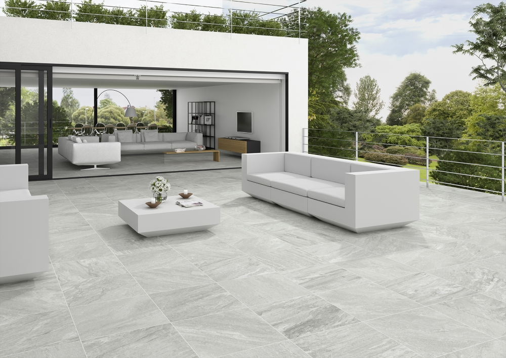 Icarus Grey Porcelain Outdoor Slab | Tile Mountain