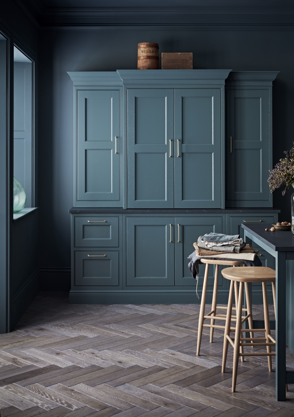 Somerton Kitchen in Baltic Green | Burbidge Kitchen Makers