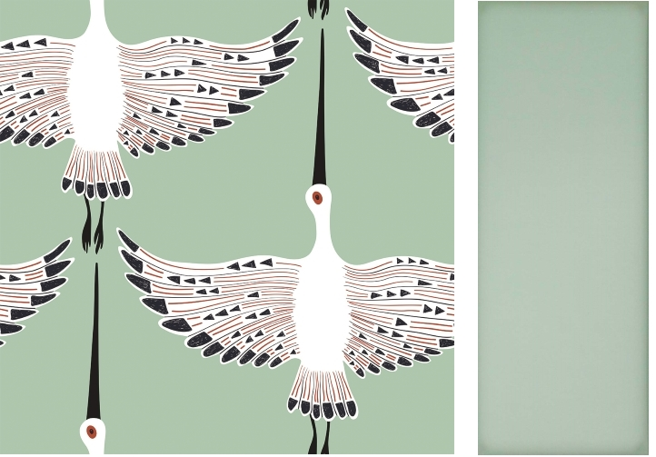 Ogata Kuren Wallpaper from Lust Home   Fulham Sage by Tile Mountain