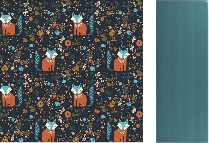 Lets Make A Den Wallpaper from Lust Home | Vivid Teal Gloss by Tile Mountain