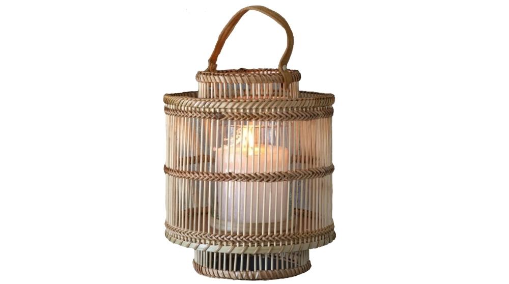 Natural Bamboo Lantern   Five and Dime