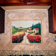 Kitchen Tile Murals Slim Storage Backsplash Ideas Home