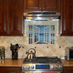 Kitchen Tile Murals Pop Up Electrical Outlet For Backsplash Designs Beach Scene Tiles Dr Island Time With Window Mural