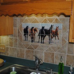 Kitchen Tile Murals Renovation Budget Backsplash Horse Mural Brat Pack 2