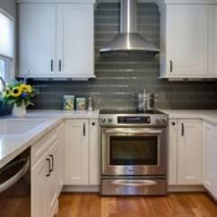 10x10 Kitchen Cabinets John Boos Island Backsplash - Akdo Lunar Gray Medium 3x12 Frosted ...
