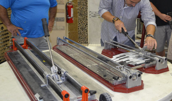 how to cut glass tile and wood plank