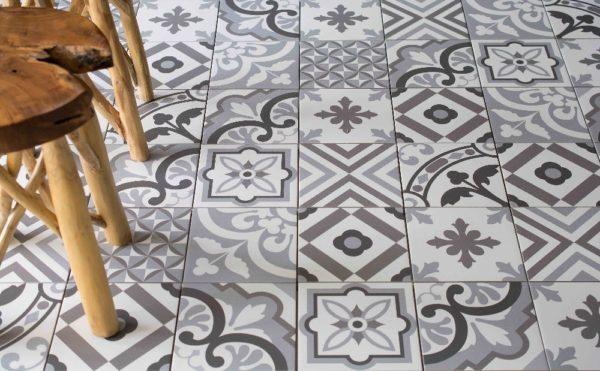 decorative graphic tile designs in