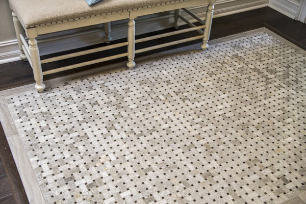 how to create a tile rug in your home