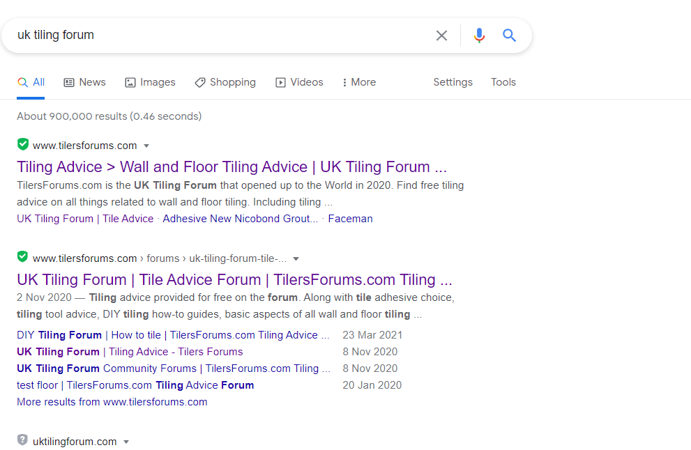Searching for a UK Tiling Forum?