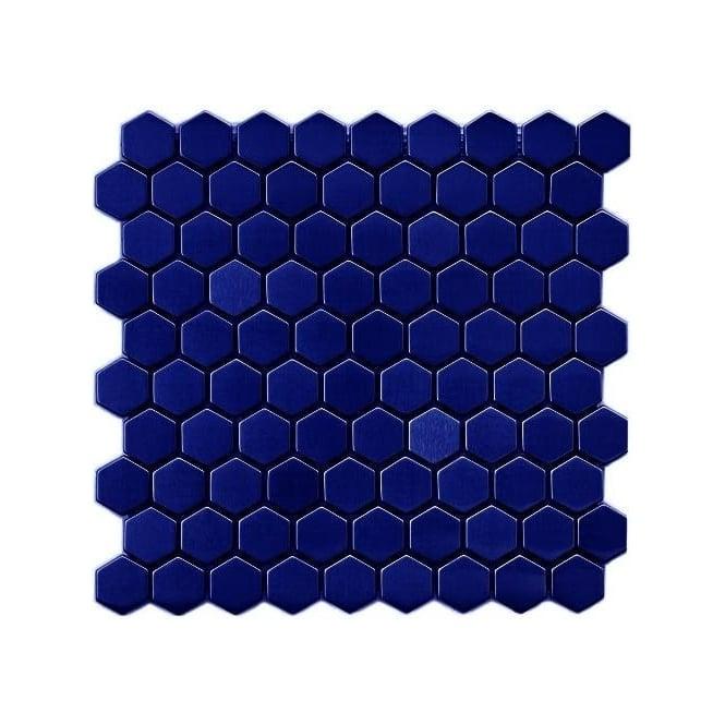 Hexagon Gloss Royal Blue 34cm x 34cm 30cm x 30cm Mosaic Tile