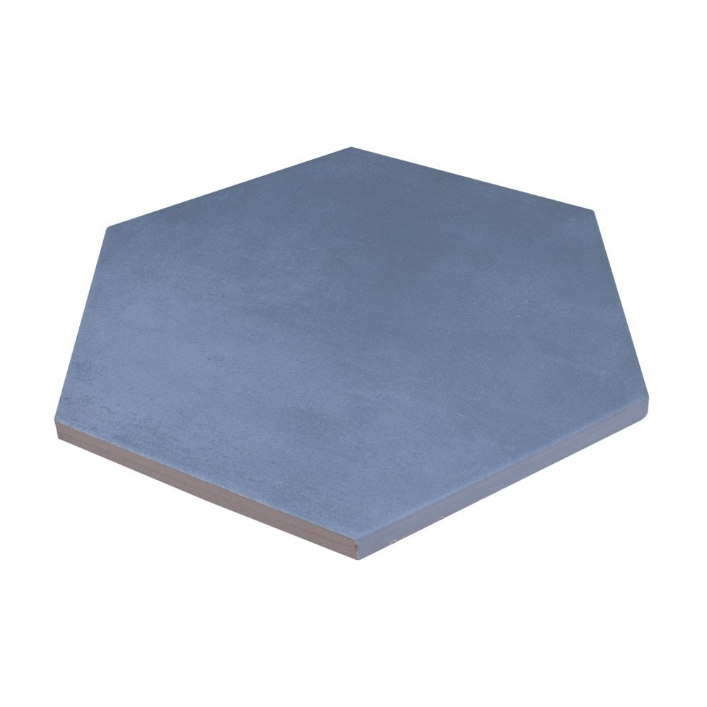 naples base hexagon blue 22 8cm x 19 8cm wall floor tile