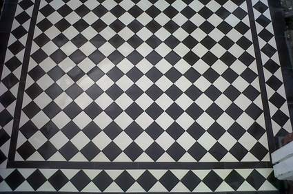 Black And White Victorian Wallpaper Victorian Black And White Quarry Tiles