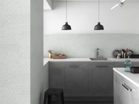 mosaic kitchen tile tall pantry tiles for kitchens bathrooms italian hexagonal carrara white marble