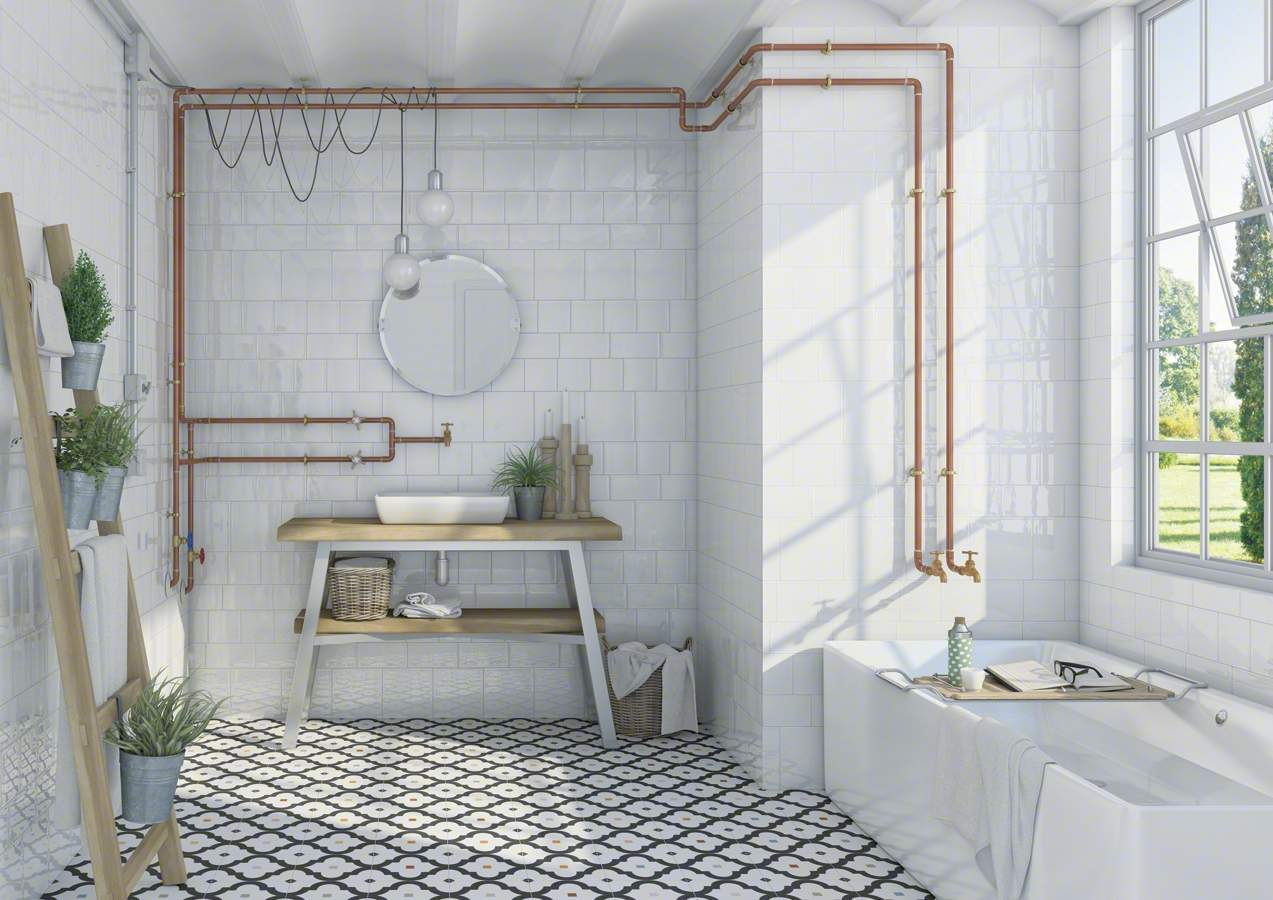 vintage subway tiles in 10 colours at