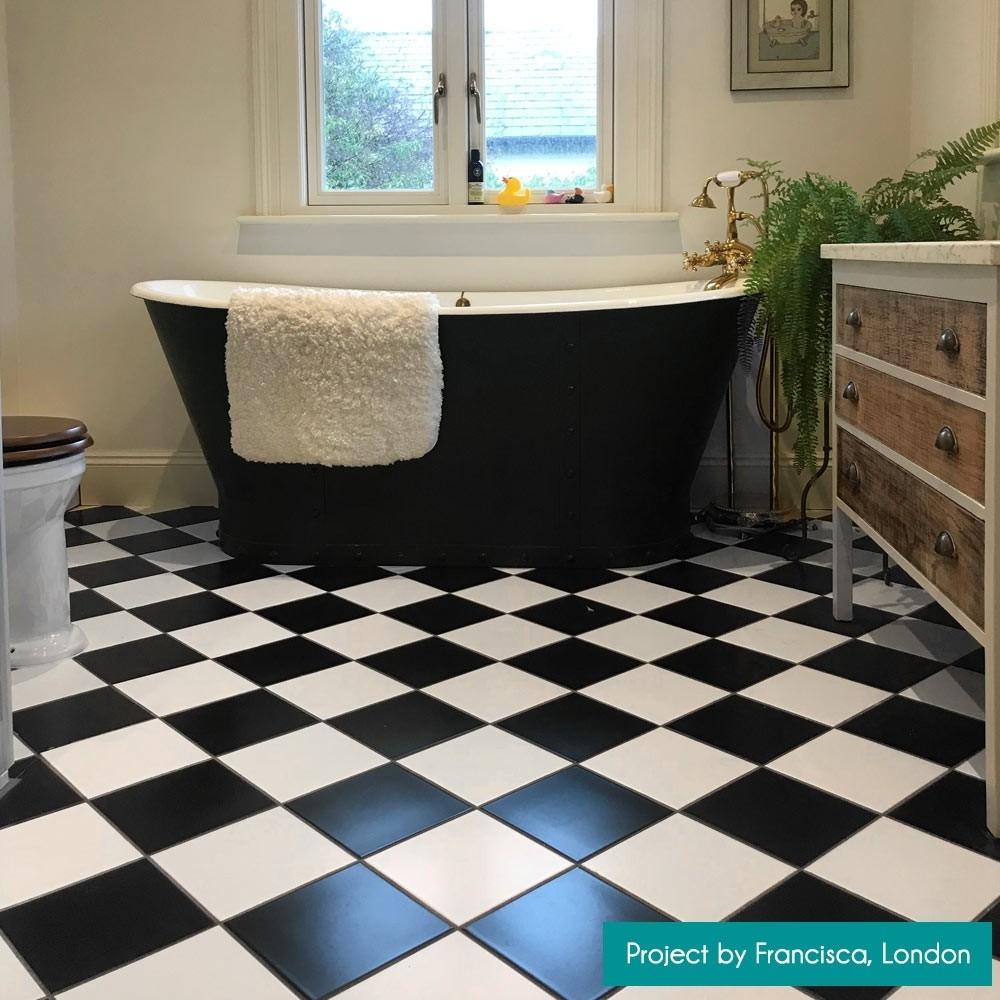 matt black 20x20 wall and floor tile