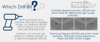 How to drill through a tile- without breaking it? - Tiles ...