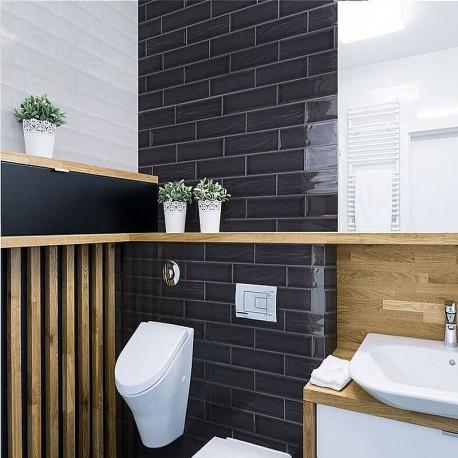 mosaic kitchen floor tiles storage units spanish splashback tile black gloss aria ripple subway ...
