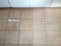 Grout cleaning - before & after images | Seal systems