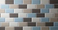 Duck Egg Mini Metro brick shaped glazed ceramic wall tiles ...