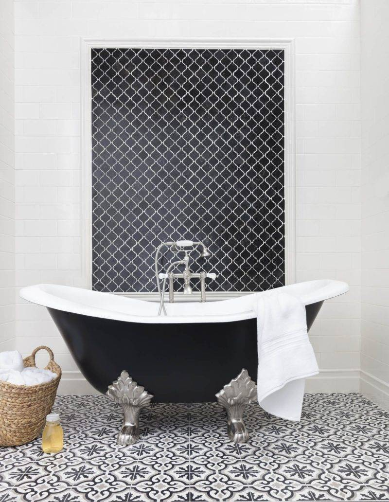 designing with black and white tile