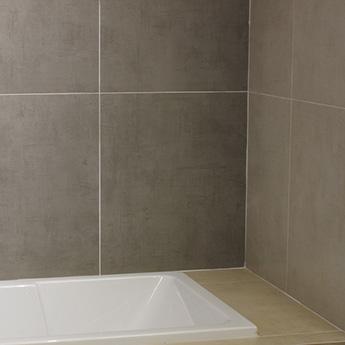 Grey Matt Textile Porcelain Tiles 600mm x 600mm  Tilesporcelain