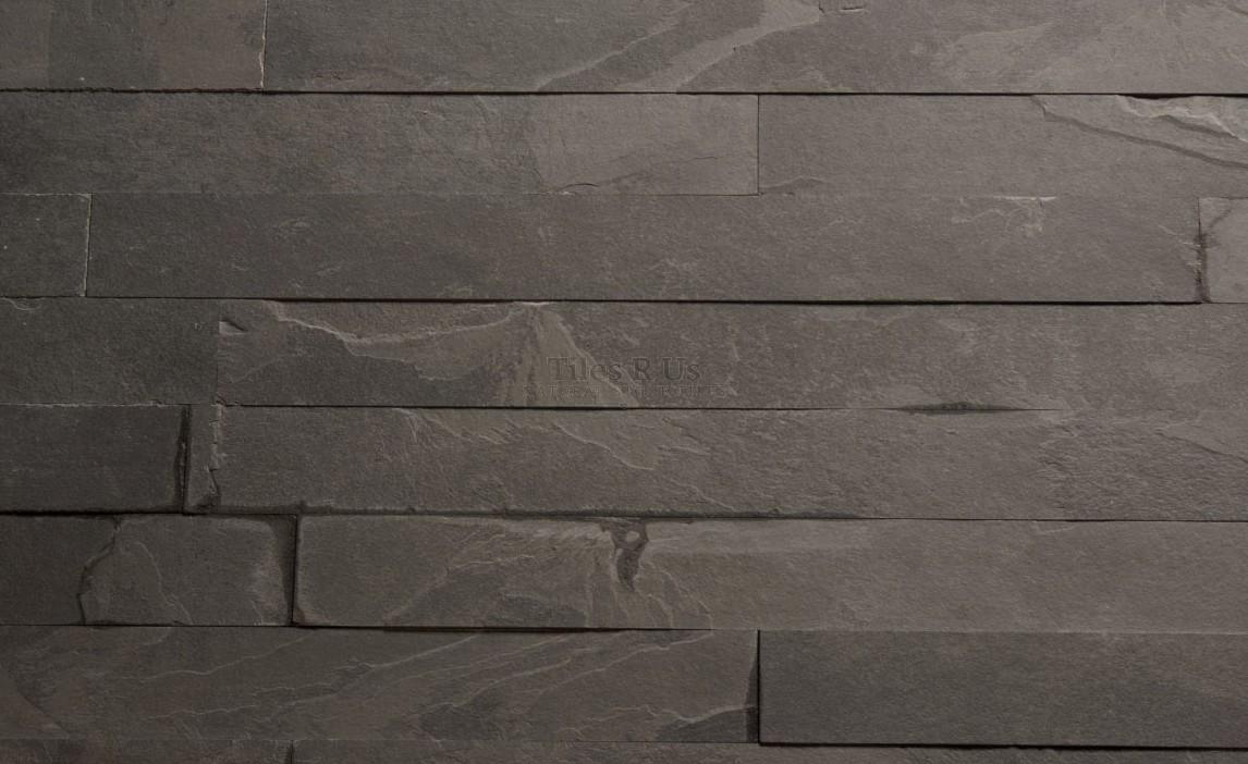 slate brazilian black calibrated riven herringbone 60x400x10mm