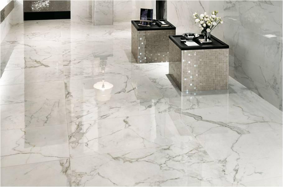 Marble Imitation Calacutta X installed on a floor
