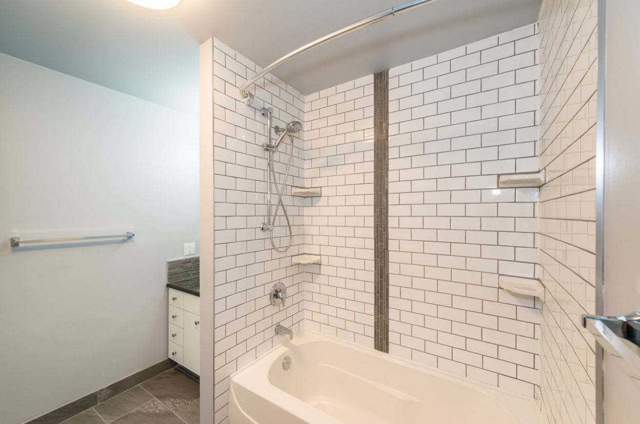 Soho White subway and Allure Ash Tile and Mosaic