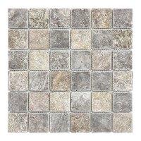 Silver Travertine 2x2 Mosaic - SALE - Tile Stone Source
