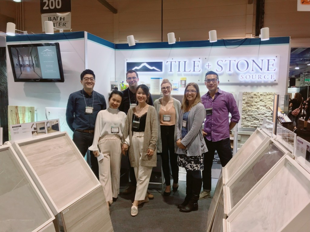 The Tile and Stone Source team at the Calgary Fall Home Show