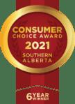 Six year winner Consumer Choice Award Southern Alberta