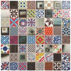 Mosaic Kitchen Floor Tiles Air Vent For Sink Artisan Pop Art