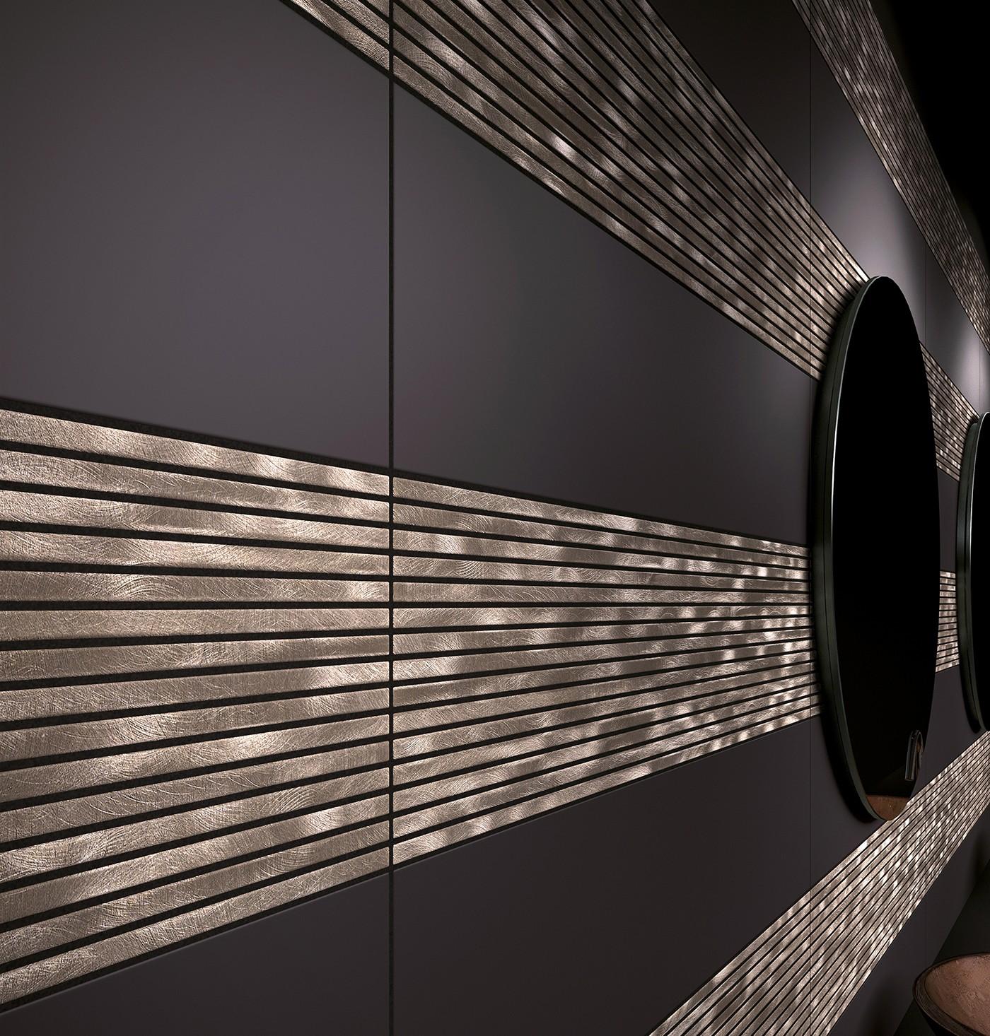 metallic kitchen wall tiles updates alea copper feature tile 15 x 60 cm