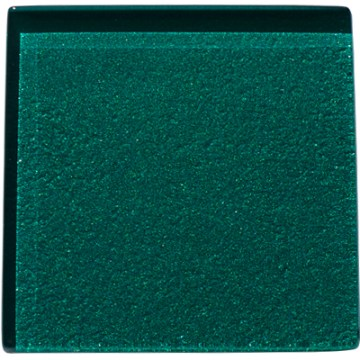 Green glass kitchen tile